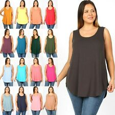 4b3456baf32 1XL 2XL 3XL PLUS SIZE Premium Fabric Quality Round Neck Hem Relaxed Fit  Tank Top