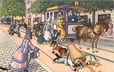 Hartung Kunzli PC 4741 Dressed Cats Board Trolley Dog Trips Bakery Delivery Boy
