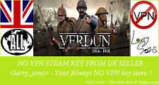 Clave de vapor Verdun no VPN región libre de Reino Unido Vendedor