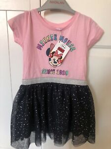 minnie mouse tutu dress pink blue disney 1.5 - 2 years 18-24 months Baby Girl