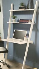 Lokken Ladder Desk In White -  Home Office / Small Space Home Working Solution!