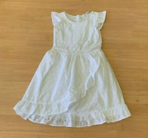 Girls size 6 Lined White BRODERIE  Cotton  PARTY DRESS  Target  New RRP$30