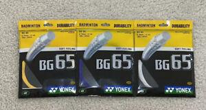 10 Packs Yonex BG 65 Badminton Strings 1 Box 10 strings
