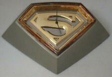 DC Collectibles Superman Symbol Silver & Gold Desk Clock Noble Collection
