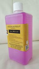 Goldelektrolyt - Hartvergolden - 100 ml - 8 Gramm Gold /L. Goldsolution - TOP!