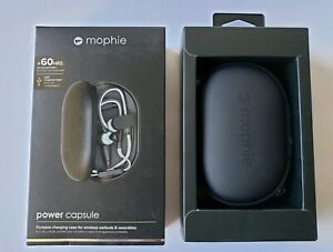 Mophie Power Capsule External Battery Charger for Wireless Headphones Black New
