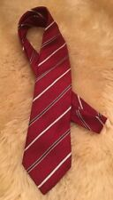 Men's Armani Collezioni velvet Red Stripe Silk Neck tie Made in Italy