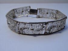 Friesenmuster Silberarmband Filigran Bracelet Armband 800 Silber 18cm Nr.260
