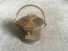 More details for original antique dairy cream can with a brass latch. dairy supply company