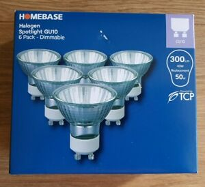 Set of 6 Halogen Warm White GU10 Spotlights 40 W Dimmable Replacement Bulbs