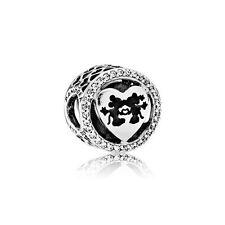 Authentic PANDORA Disney Mickey Minnie Love Charm 791957CZ