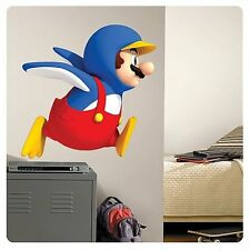 Giant Nintendo Super Mario Galaxy Mario In Penguin Outfit Wall Decal