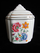 Canister Vintage Japan Jar Candy Lipstick Holder Small Jewelry Box Gold Trim