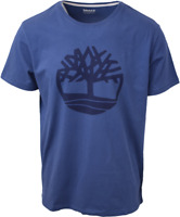Timberland Men's Blue Solid Tree Logo S/S Tee (Retail $35) S10