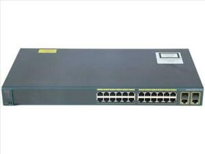 USED Cisco WS-C2960+24TC-S Switch 24 Port Gigabit Ethernet 2x SFP Base-T 2 Layer