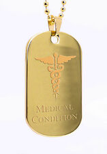 Personalised Medical Condition ID Dog Tag, Engraved Gift