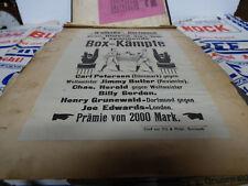 early Boxing handbill poster Germany Dortmund pictorial CARL PETERSEN