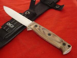 """Ontario Bushcraft Utility Fixed 4"""" Carbon Steel Walnut Wood knife & sheath"""