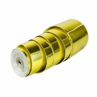 Gold Foil Heat Insulating Tape Hose Wrap Reflective Shield Adhesive 100mm x 10m