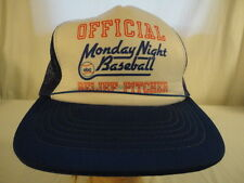 Mens Vintage Official Monday Night Baseball Relief Pitcher Snapback Cap Hat (S)