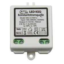 LED Konstantstromquelle|Treiber|3-12V|700mA|KSQ|für z.B. 1-3x 3W LED|9W|Driver