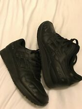 Mens Asics Gel Lyte iii Trainers Uk 12 Great Conditon Black/black Leather