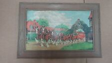 Anheuser Busch 1940's 50's Framed Clydesdale Sign Simmons-Sissler St Louis Mo
