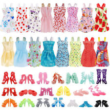 36Pcs For Barbie Doll Clothes & Doll Shoes Party Gown Outfit Accessories