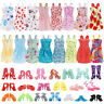 36PCS 12inch Doll Clothes & Doll Shoes Party Gown Outfit Accessories Sets Gift