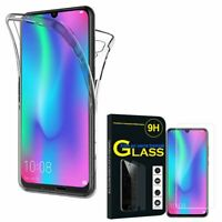 Coque Silicone Gel protection 360° + Verre Trempé Huawei Honor 10 Lite 6.21""