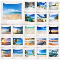 Sky Sunny Beach Palm Tree Tapestry Wall Hanging Living Room Bedroom Dorm Decor
