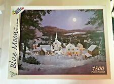 Vintage NIB White Mountain Puzzles BLUE MOON by Fred Swan 1500 Piece