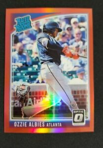 Ozzie Albies 2018 Panini Donruss Optic Rated Rookie #36 Red Prizm Braves /99 RC
