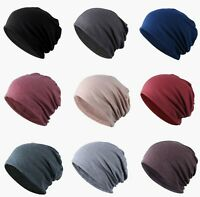 Men Women Unisex Warm With Or Without Fleece Slouch Baggy Ski Beanies Hats Cap