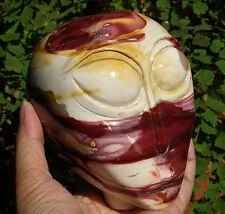 "4.4"" XXXL Mookite Jasper Gemstone Crystal Alien Skull Healing Skeleton #1956"