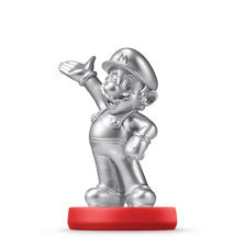 Nintendo Super Mario Amiibo Silver Edition Mario US Version Wii U 3DS