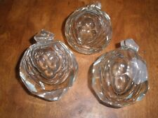 """Lot of 3 Large Czech crystal ball  Antique Look over 3"""""""