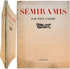 Sémiramis 1934 Edition Originale Paul Valéry mélodrame musique Arthur Honegger