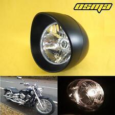Yamaha V STAR 650 950 1100 1300 VMAX Classic Black Custom Motorcycle Headlight