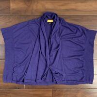 St. John SoCa Womens Size Small Blue Wool Silk Cashmere Cardigan Sweater
