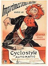 Affiche Originale - Eugène Ogé - Imprimante Gestetner - Pelletan - Paris - 1898