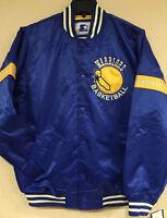 Golden State Warriors Men STARTER Legacy Satin Jacket - Vintage Varsity Jacket