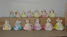 Josef Originals 13 Birthday Girls Angel Figurines Ceramic Girl Angels Figure