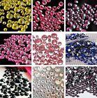 400 - 1000 pcs Mix Size 2mm - 6mm 14 Facets Resin Round Rhinestone Flatback DIY