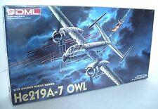 DML German (Heinkel) HE 219 A-7 OWL WWII Air Plane 1:72 Model Kit #5006