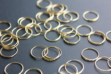 100PCS BRASS RINGS 11mm CHANDELIER LAMP PARTS CRYSTAL METAL OCTAGON CONNECTORS
