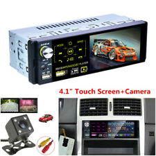 """4.1"""" 1 Din Car Stereo Radio Touch Screen MP5 Player Bluetooth RDS 2USB+Camera"""