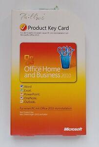 MS Office 2010 Home and Business Vollversion Box Deutsch PKC 32/64-Bit T5D-00299