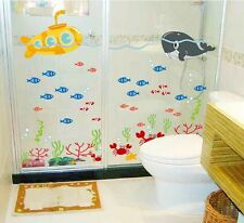 Wall Sticker Decal Sea Submarine Whale Home Decor Child Room Removable DIY