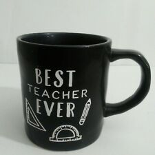 "Tag ""Best Teacher Ever"" Tea Hot Cocoa Beverage Coffee Cup School Gift Black 20oz"